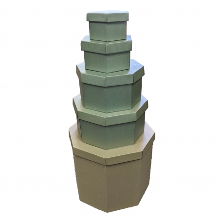 Pyramid of 6 Multi Sided Boxes BPYOCT