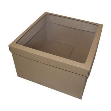 Eco Large Square Box Set with Window BWECO33W