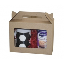 Eco Medium Hamper Carry Box with Window BWECO205W