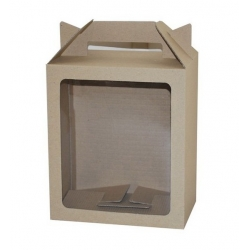 Eco Tall Hamper Carry Box with Window BWECO200W