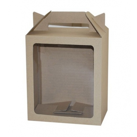 Eco Tall Hamper Carry Box with Window
