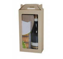 Eco Wine Hamper Carry Box with Window